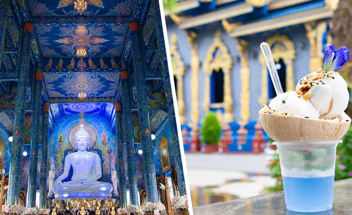 チェンライ 青い寺 ブルーテンプル ワットロンスアテン